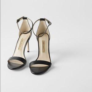 Zara High Heel Leather Sandals